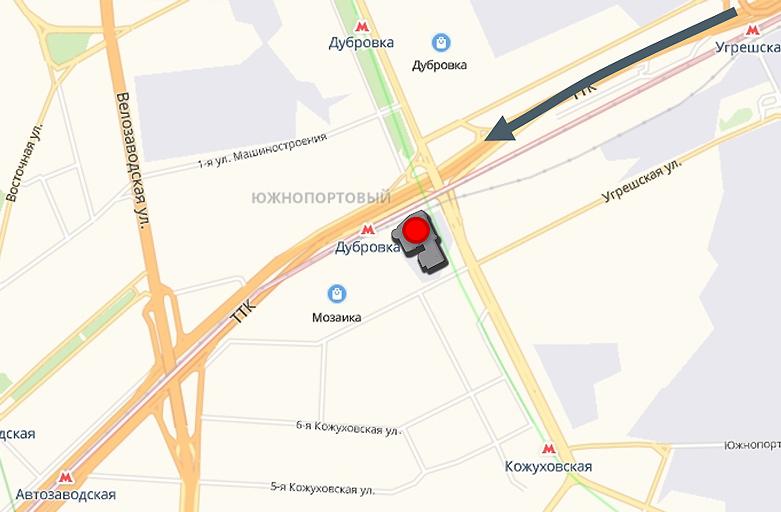 7-я Кожуховская ул. 15, размещение рекламы на крыше здания, вид с ТТК по направлению в сторону м. Автозаводская, фото 3 (карта)