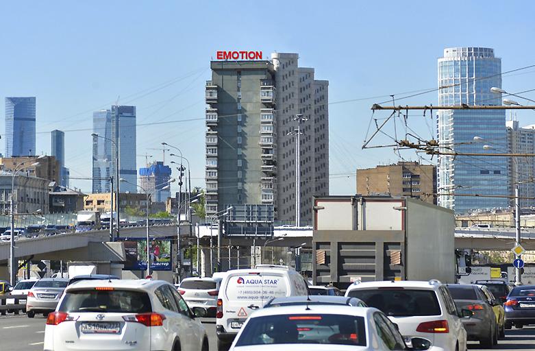 улица Беговая, дом 34, крышная установка, вид с ТТК — Третье Транспортное кольцо фото 1 день