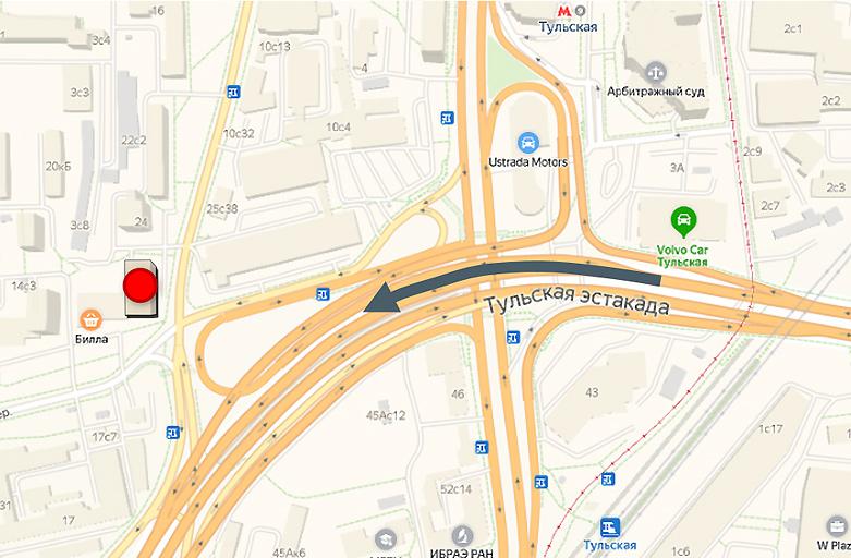 Духовской переулок, дом 16, крышная рекламная установка, вид с ТТК - Третье Транспортное кольцо, фото 3 (карта)