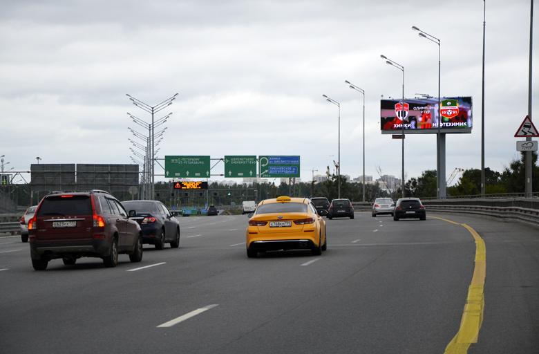 Трасса М11, «Москва-Санкт-Петербург», (0,5 км от МКАД) (А) из Москвы диджитал | digital экран 5х15 фото 3