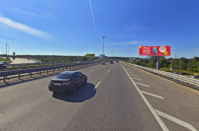 Международное шоссе, (700м. после выезда из аэропорта Шереметьево-2) (А) в Москву Реклама на цифровом digital суперсайте 5х15