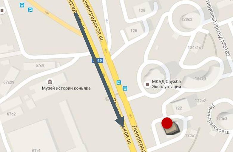 Ленинградское шоссе, 120 реклама на крыше, размещение, вид с Ленинградского шоссе, по направлению в центр, фото 3 (карта)