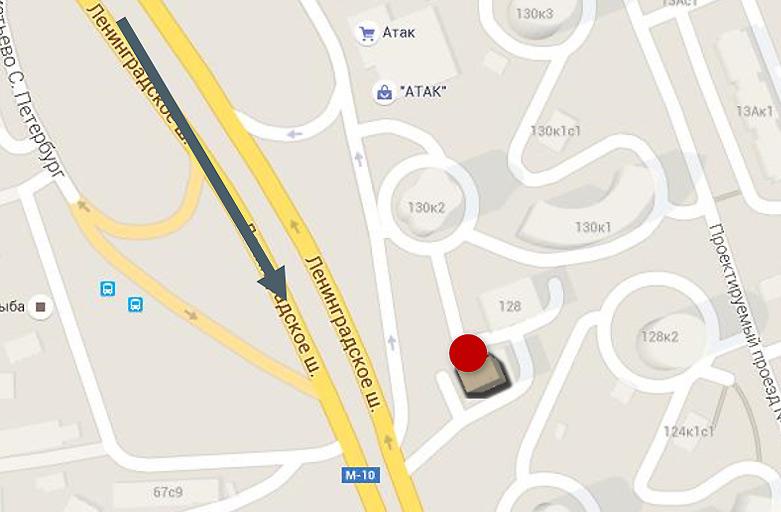 Ленинградское шоссе, 126 размещение крышной установки, вид с Ленинградского шоссе, по направлению в центр, фото 3 (карта)