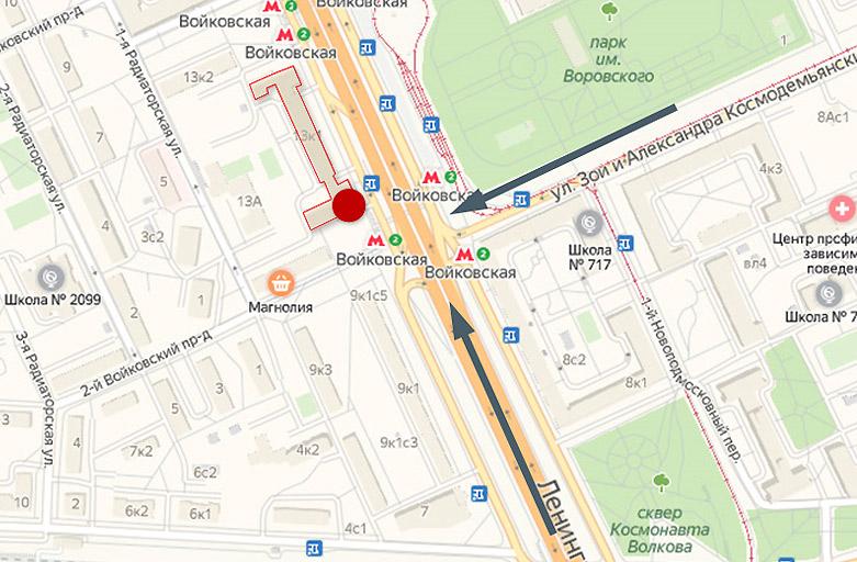 Ленинградское шоссе, д.13 к.1, крышные рекламные конструкции, вид с Ленинградского шоссе, по направлению из Центра карта