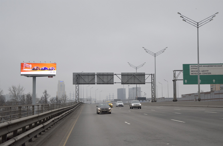 "Трасса М11, ""Москва-Санкт-Петербург"", (0,5 км от МКАД) (B) в Москву Суперсайт 5х15"
