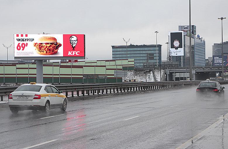 Международное шоссе, 700м. до въезда в аэропорт Шереметьево-2 (B) из Москвы