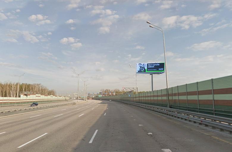 М11 пункт оплаты справа, в строну Шереметьевкого ш. сторона А, digital экран 5х15