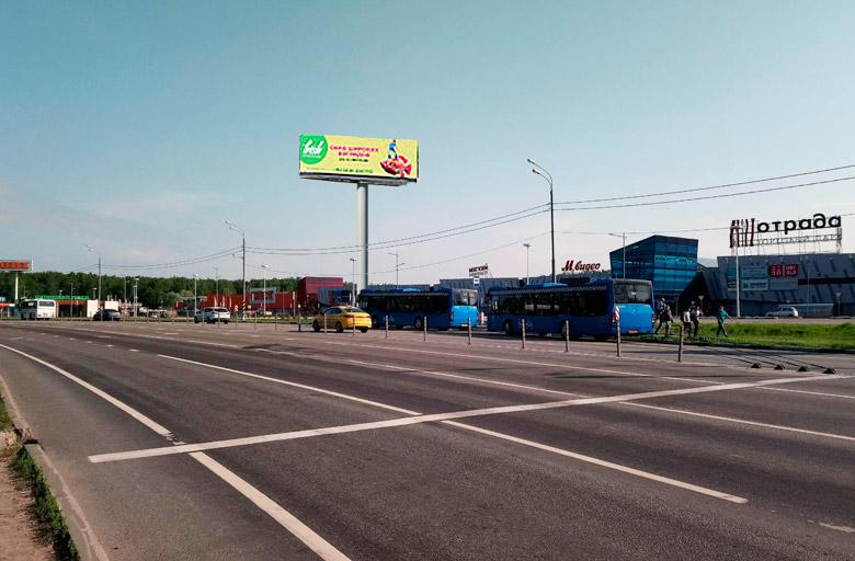 Пятницкое ш. 7-й км., справа в область, сторона А, рядом с ТЦ Отрада, digital экран 5х15