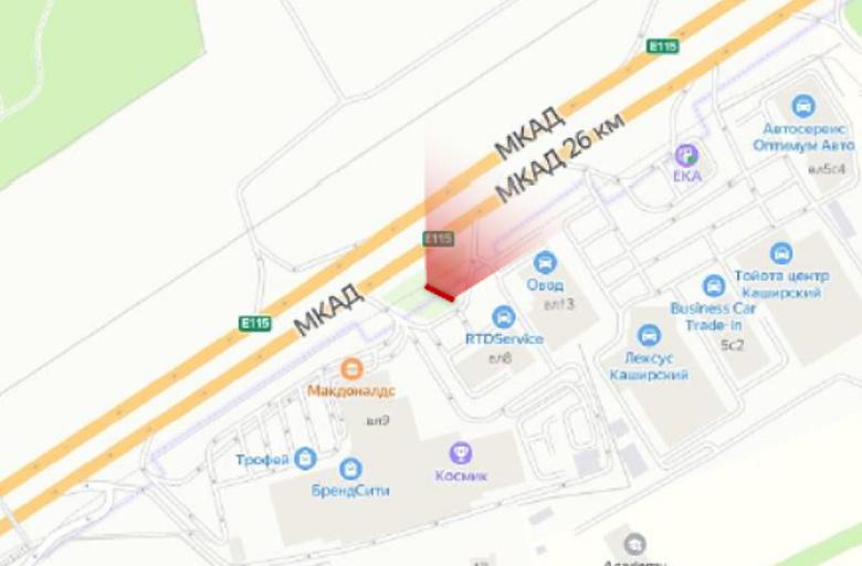 МКАД 27 км., между Каширское ш., и М4 Дон B (внешнее) Статика