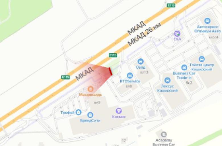 МКАД 27 км., между М4 Дон и Каширское ш., А (внешнее)