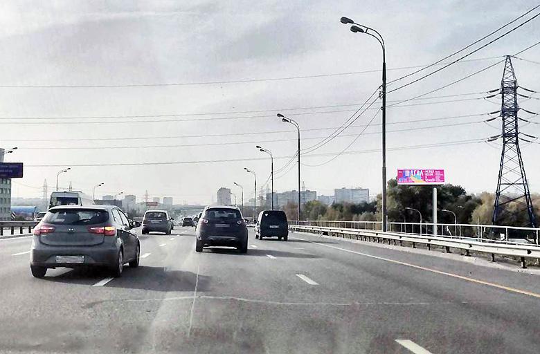 Энтузиастов ш., M-7 Волга, 17-й километр, левая сторона (900 м. от МКАД) (А) в Москву