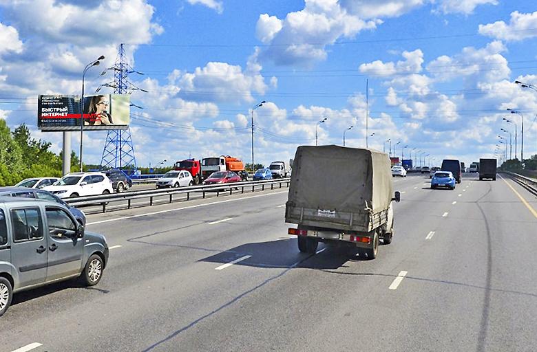 Энтузиастов ш., M-7 Волга, 17-й километр, левая сторона (900 м. от МКАД) (B) из Москвы (статика)