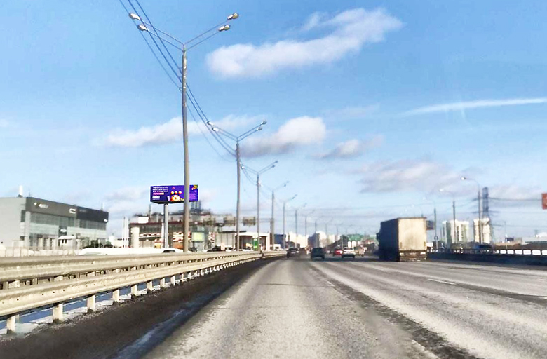 М9 Новорижское шоссе 22 км., (5 км. от МКАД справа) (B) в Москву (статика)