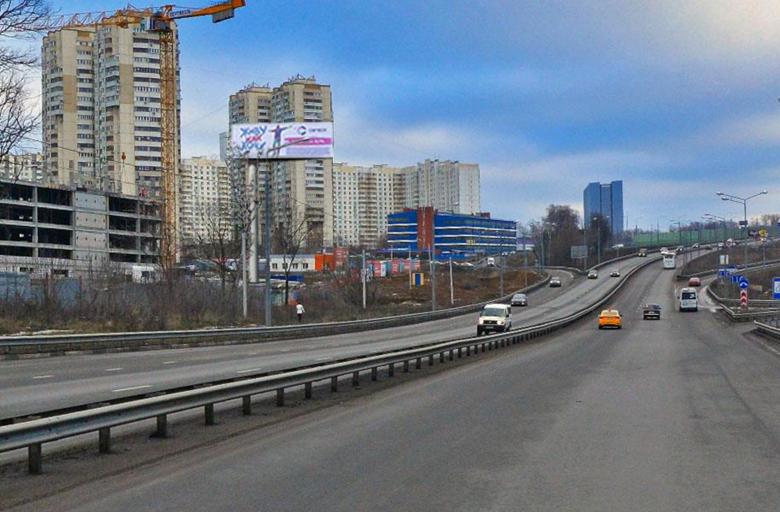 Можайское ш., съезд на М1 из Одинцово в Москву (B) слева (статика)